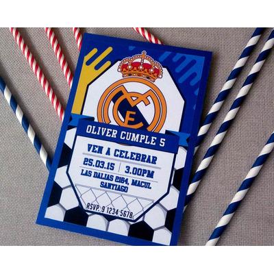 Compra Invitaciones Para Cumpleaños Real Madrid Cotillón En