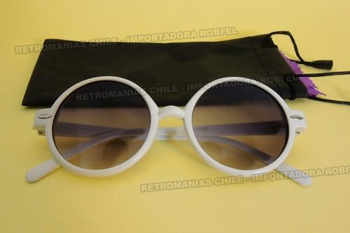 e135a66d1f Lentes Sol Redondos Blancos / Lennon Anteojos Retro Hipster