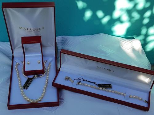 27862560b074 Conjunto Perla Mallorca Collar + Aros + Pulsera