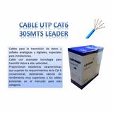 Cable De Red Utp Cat6 305m Con Aislación Unifilar 100% Cobre
