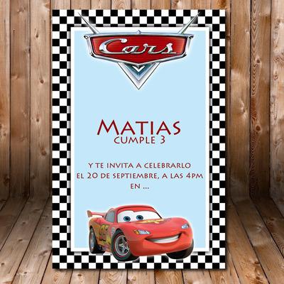 Compra Cars Tarjeta Invitacion Imprimible Cumpleaños En Rm