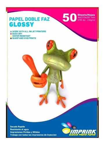 Papel Fotografico Doble Faz Glossy Brillante A4 230g/50hojas
