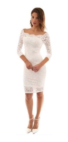 diseño encantador mejor amado calidad Vestido Blanco Boda Civil Ceremonia Matrimonio Grandes en ...