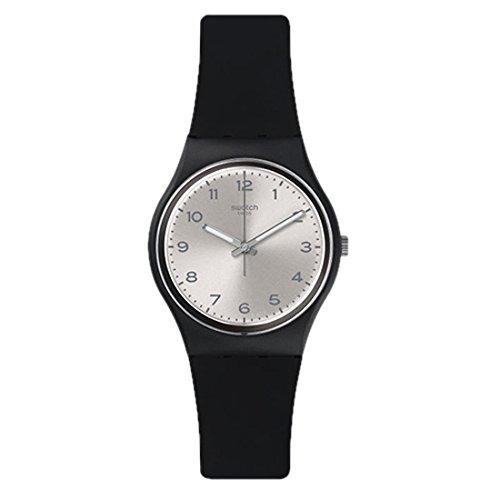 022f5c3ed8a1 Reloj Swatch Friend Too Silver Dial Black Plastic Silicone Q