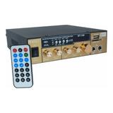 Amplificador Estéreo 2 Canales Bluetooth Usb Sd Mp3 Karaoke