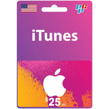 Tarjeta Itunes Gift Card 25 Usd Usa Digital - Prepagochile