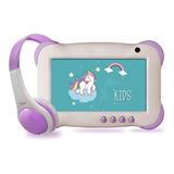 Tablet Infantil 7 Play And Learn Plus +audífonos Mlab Morada