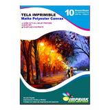 Tela Imprimible Matte Poliester Canvas A3/50h Envio Incluido