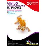 Vinilo Adhesivo Ultrablanco A4/20hojas..envio Gratis X 3 Un!