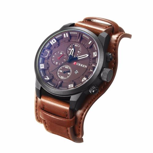 dc367a2d75ee Reloj Curren De Cuero Deportivo Militar Sport Hombre+caja