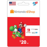 Tarjeta Nintendo Eshop 20 Dolares Digital - Prepagochile