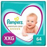 Pañales Pampers Premium Care 64 Unidades Talla Xxg