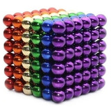 Cubo Magnético Multicolor 216 Imanes Neodimio 5mm