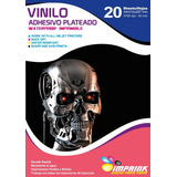Vinilo Adhesivo Plateado A4/20hojas..envio Gratis X 3 Un!