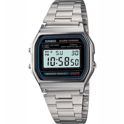 0a313c1501c2 Reloj Casio A158wa Unisex Retro Plateado   Lhua Store