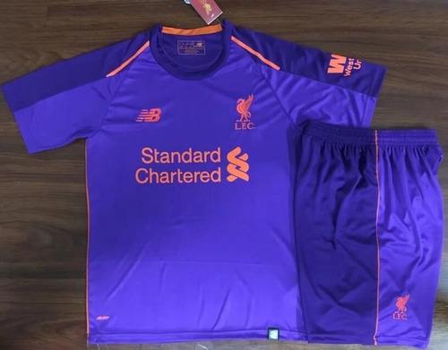 609108ef1dab0 Camisetas + Short Niños Liverpool De Inglaterra 2019 Salah