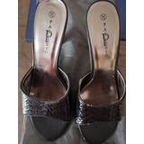 Zapatos De Mujer Palazzio Negro Taco Alto Número 37