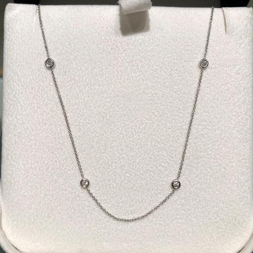 d9b171a3d1ba Collar Oro Blanco 18 Kt Con Diamantes