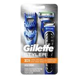 Gillette Styler 3 En 1 Recortadora, Afeita Y Perfiladora