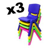 X3 Sillas Infantiles De Polipropileno/ Moza Importaciones