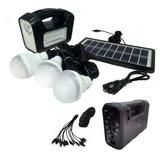 Sistema Iluminación Solar Casa 3 Ampolletas Led 12w  Ml2975