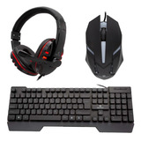 Kit Gamer Ultra Rgb Teclado + Mouse + Audifono - Revogames