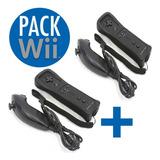 Pack Wii  2 Controles Nintendo Wii + 2 Nunchuck| Maxtech