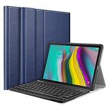 Funda Tablet Samsung Galaxy Tab S5e 10.5 Con Teclado Azul