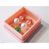 Aros Abridores Para Bebé Y Niñas, Perla Blanca 5mm Y Oro 18k