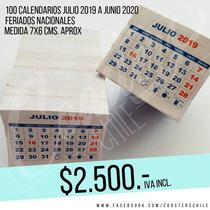 Taco Mini Calendarios 2019 - 2020 Para Imanes Publicitarios