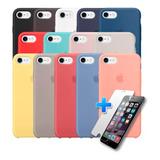 Carcasa Silicona Logo Apple iPhone 7 / 8 + Lamina De Vidrio