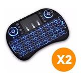 Oferta! Pack X2 Mini Teclado Inalambrico Con Luz Touch Pad