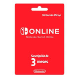 Tarjeta Nintendo Switch Online 3 Meses Digital | Gamer24hs