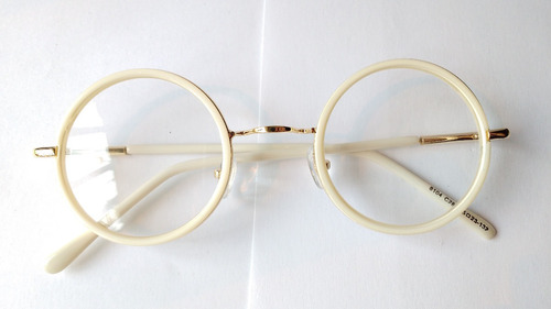 1a065d286d Marcos Lentes Ópticos Round Composite Gold White Blanco 47mm