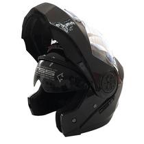 Casco Moto Abatible Certificado Negro Dot Cert Dot / 862