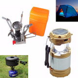 Pack Cocinilla Camping  + Linterna Lampara Solar / Fernapet