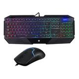 Combo Hp Gamer Teclado+ Mouse Gk1100, Negro; Electrotom