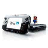 Wii U Negra Desbloqueada 10 Juegos. 6 Meses De Garantía