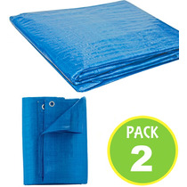 Pack 2 Cubierta Lona Multiuso Carga 4x5 Mts 62745/ Fernapet
