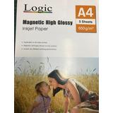 Papel Magnético Glossy Adhesivo A4 5 Hojas