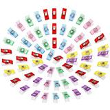105 Clips De Plástico De Colores Para Costura Y Manualidade