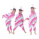 Kigurumi Traje Pijama Unicornio Mameluco Niña Rosa Fluffy