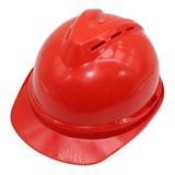 Casco Seguridad Rojo Emergencia Protección / Ekipofertas