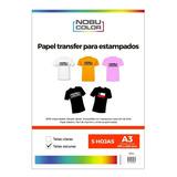 Papel Transfer - Telas Oscuras A3 - 5 Hojas Nobucolor