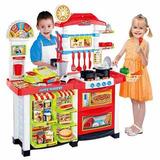 Set Cocina  Supermercado Infantil 59 Piezas Luz Sonido R4508