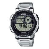 Reloj Hombre Casio Ae-1000wd Digital Plateado / Lhua Store