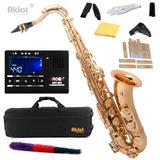 Saxofon Tenor Aklot Bb Kit /cañas Oro Lacado Envio Gratis