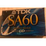 Cassettes Cromo Tdk Sa 60 Vírgenes