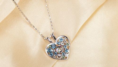 f8fd421b61e Collar Con Cristales Swarovski Corazón- Joyas Amor Mujer
