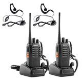 Kit 10 Radio Transmisor Walkie Talkie Baofeng 888s + Manos L